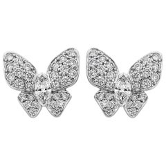1.49 Carat Diamond Butterfly Earrings