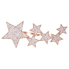 1.49 Carat Star Diamond Ring 18 Karat Rose Gold