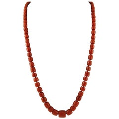149.4 g Red Coral Long Necklace