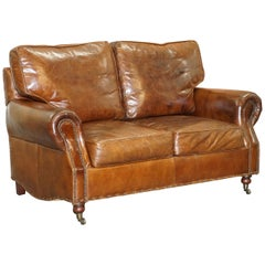 Timothy Oulton Balmoral Halo Brown Leather 2 Sofa Part Large Suite