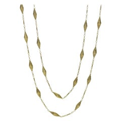 14 Carat Gold Long Chain