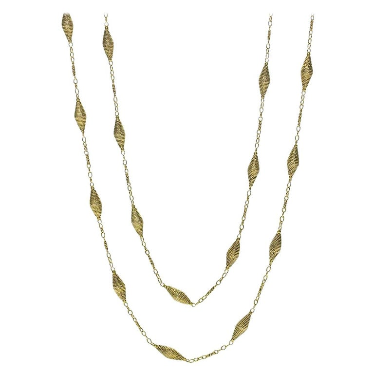 14 Carat Gold Long Chain For Sale