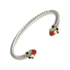 14 Karat David Yurman Cable Bracelet Sterling Silver Onyx