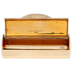 14k Deco-Inspired Evening Cigarette Case for Purse/Handbag by Nettie Rosenstein