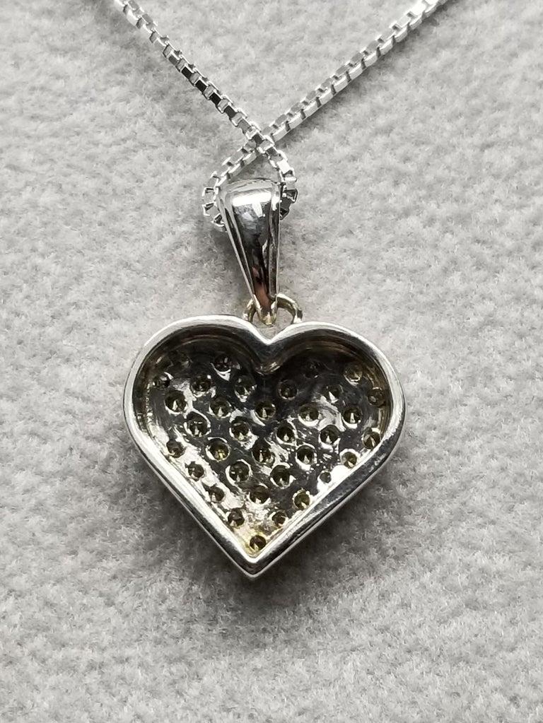 Women's or Men's 14 Karat Diamond Heart For Sale