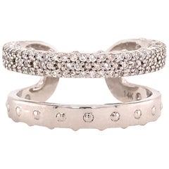 14 Karat Diamond Open Back Ring White Gold