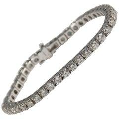 14 Karat Diamond Tennis Bracelet White Gold 7.33 Carat