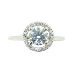 14k Gold .85ct Genuine Natural Diamond Ring with Diamond Halo '#J4123'