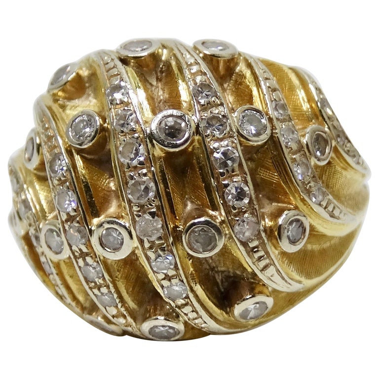 Diamond Dome Ring  For Sale