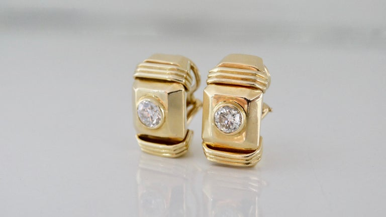 Diamond Earrings French Clip  For Sale 3