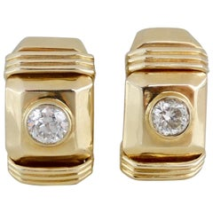 Diamond Earrings French Clip