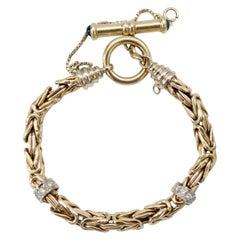 14k Gold & Diamonds 1920s Rope Chain Bracelet