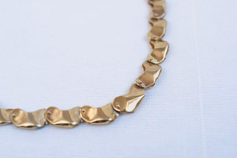 Contemporary 14 Karat Gold Exclusive Magic Bead Necklace by L'Enchanteur For Sale