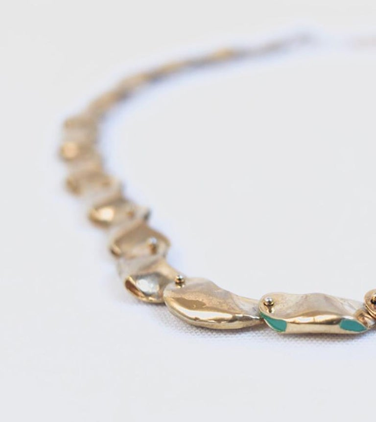 14 Karat Gold Exclusive Magic Bead Necklace by L'Enchanteur In New Condition For Sale In Brooklyn, NY