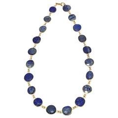 "14k Gold-filled Bezel Set Lapis Lazuli 16"" Necklace"
