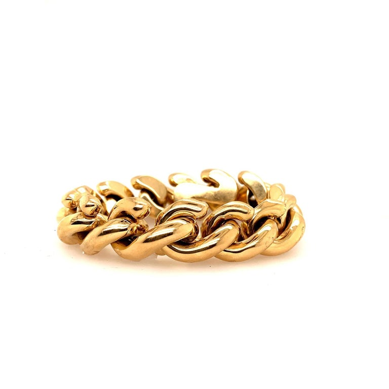 14 Karat Gold Italian Bracelet For Sale 2