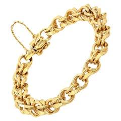 14k Gold Link Charm Bracelet