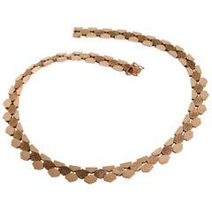 14k Gold Necklace & Bracelet Set Denmark 1970