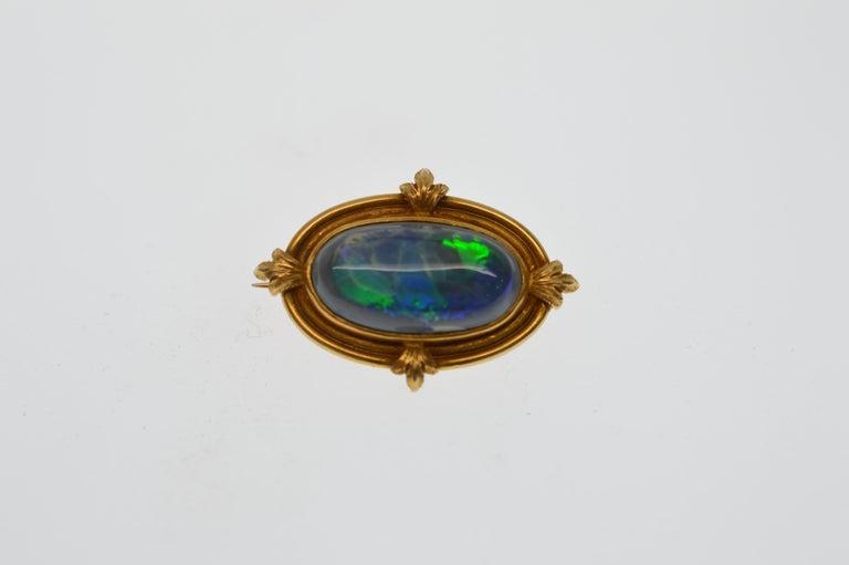 e603624d3aaf2 14K Gold & Opal Antique Pin Brooch