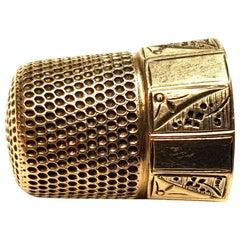 14 Karat Gold Thimble Collectible