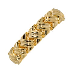 14K Italian Yellow Gold Braided Link Bracelet