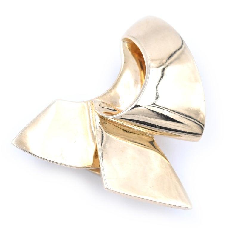 Designer: custom  Material: 14k yellow gold Dimensions: pendant measures 26.9mm X 29.7 Weight: 11.03 grams