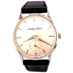14 Karat Mathey-Tissot Vintage Wind-Up Movement Men's Watch White Gold