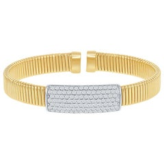 14 Karat Pave Yellow Flexible Bangle