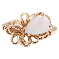 14K Pear Opal Loop Ring