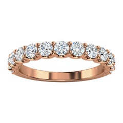 "14k Rose Gold Alina ""U"" Shape Diamond Ring '4/5 Ct. Tw'"