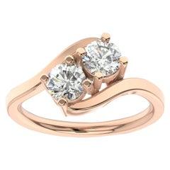 14K Rose Gold Artemis Diamond Ring '1 Ct. tw'