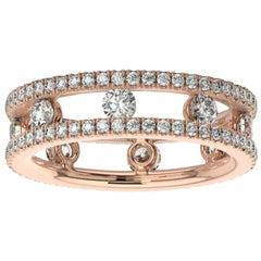 14K Rose Gold Asti Eternity Ring '1 1/2 Ct. Tw'