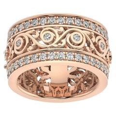 14k Rose Gold Charlotte Royal Diamond Ring '1 1/2 Ct. Tw'