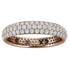 14K Rose Gold Christa Three Row Eternity Diamond Ring '4/5 Ct. Tw'