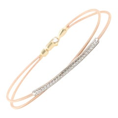 14 Karat Rose Gold Diamond Crossover Bracelet