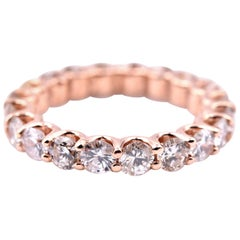 14 Karat Rose Gold Diamond Eternity Band