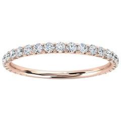 14k Rose Gold GIA French Pave Diamond Ring '1/3 Ct. Tw'