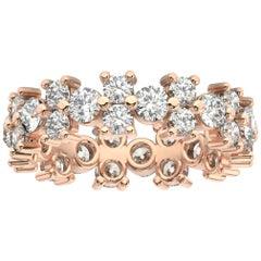 14K Rose Gold Greta Eternity Diamond Ring '2 1/2 Ct. Tw'