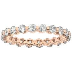 14K Rose Gold Harlow Eternity Diamond Ring '1 1/2 Ct. Tw'