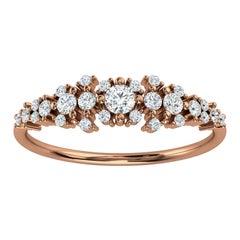 14K Rose Gold Kandi Organic Design Diamond Ring '1/4 Ct. Tw'