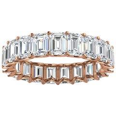 14K Rose Gold Leora Eternity Emerald Diamond Ring '4 Ct. Tw'