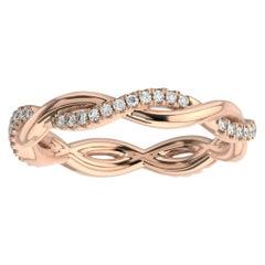 14K Rose Gold Norma Petite Interwine Eternity Diamond Ring