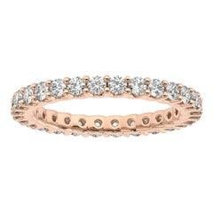 "14K Rose Gold Pavia Eternity ""U"" Diamond Ring '1 Ct. tw'"
