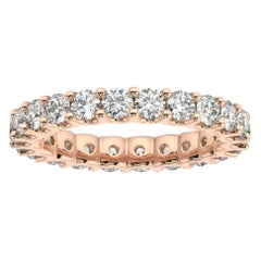 "14K Rose Gold Pavia Eternity ""U"" Diamond Ring '2 Ct. tw'"
