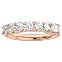 "14K Rose Gold Pavia ""U"" Diamond Ring '1 Ct. tw'"