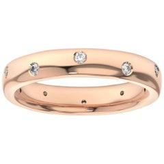 14K Rose Gold Siena Eternity Diamond Ring '1/5 Ct. Tw'