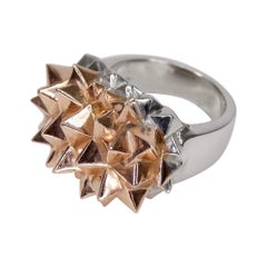 14k Rose Gold Spiked Cocktail Ring