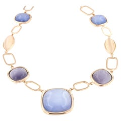 14k Rose Gold with Colored Stones Necklace
