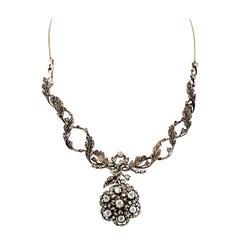 Victorian Diamond Flower Necklace