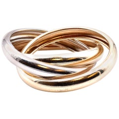 14 Karat Tri-Color Rolling Ring